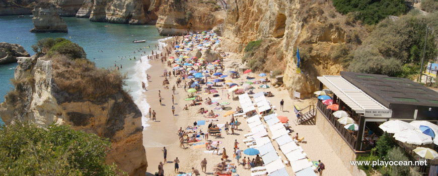 South at Praia Dona Ana Beach