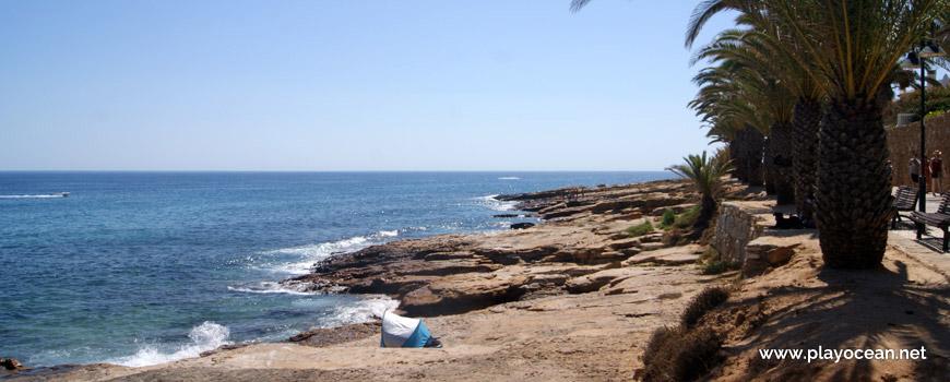 West end of Praia da Luz Beach
