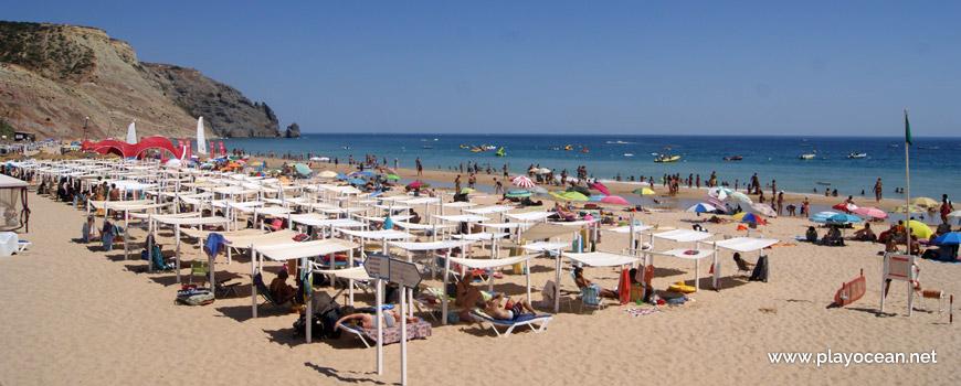 Aluguer de toldos, Praia da Luz