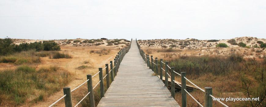 Access to Praia do Garrão (West) Beach