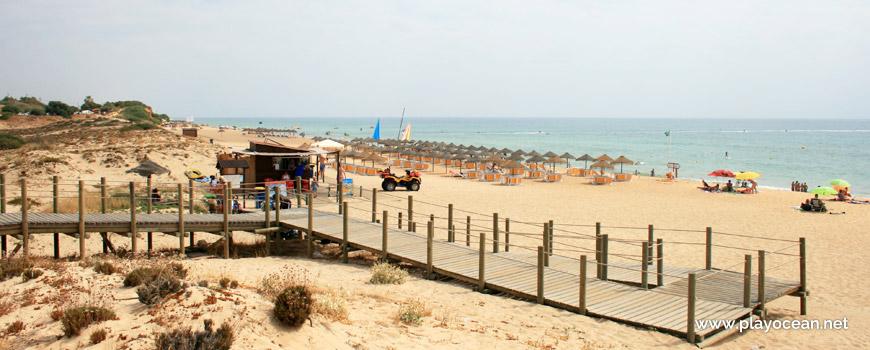 Entrance of Praia do Garrão (West) Beach