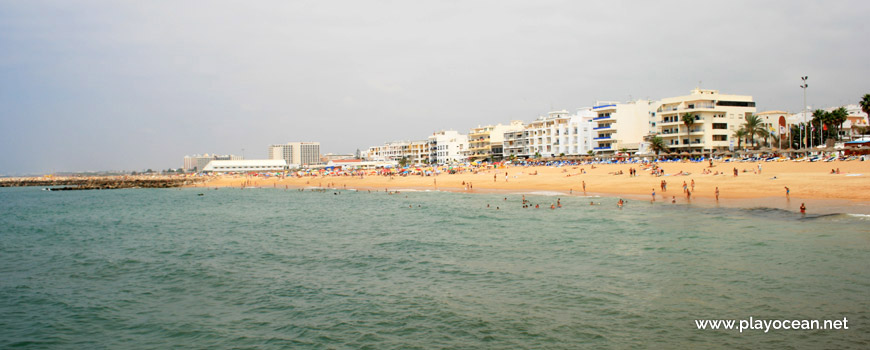 Panoramic of Praia de Quarteira Beach