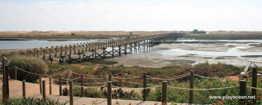 Bridge of Praia da Quinta do Lago Beach