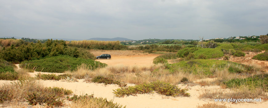 Parking of Praia do Trafal Beach