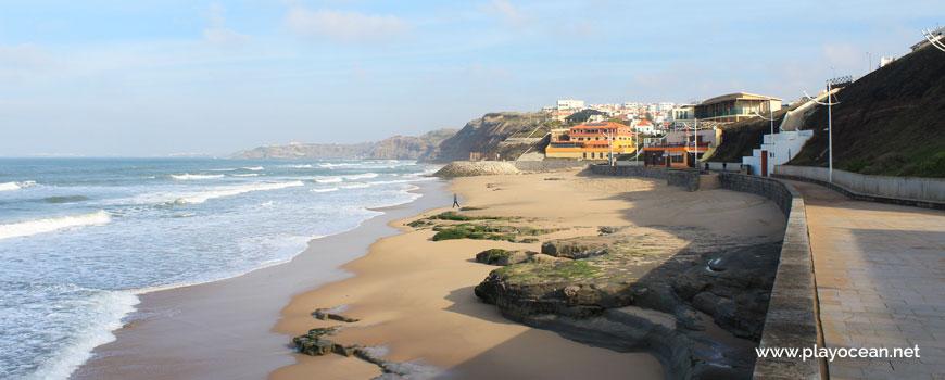 North at Praia da Areia Branca Beach
