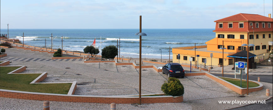 Parking at Praia da Areia Branca Beach