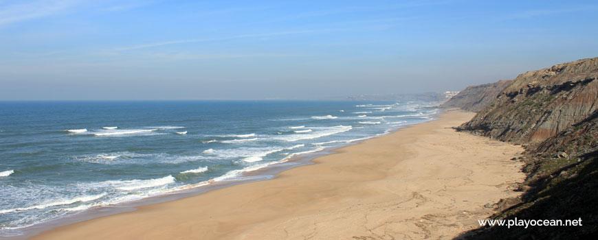 North at Praia da Peralta Beach