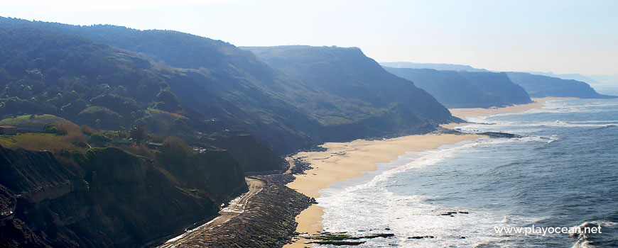 Panoramic of Praia do Porto das Barcas Beach