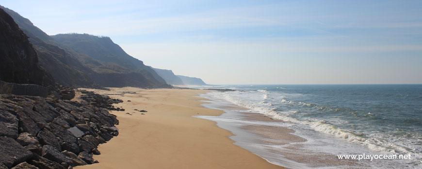 Sul na Praia do Porto das Barcas