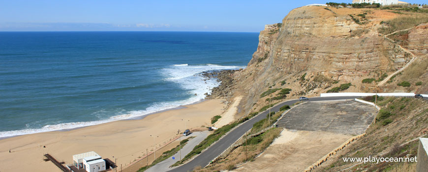 North cliff, Praia da Calada Beach