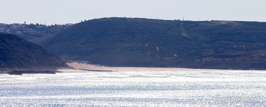 Praia da Foz do Lizandro vista da Ericeira