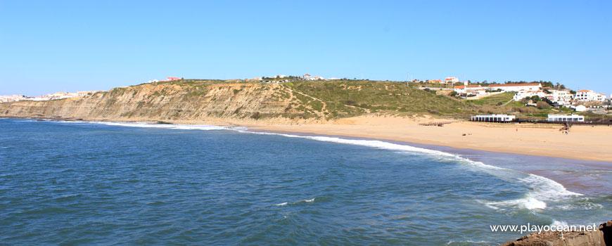 Praia da Foz do Lizandro Beach and north cliff