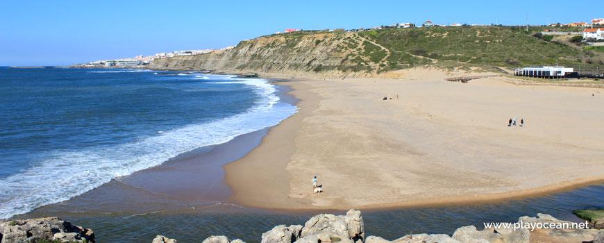 North at Praia da Foz do Lizandro Beach