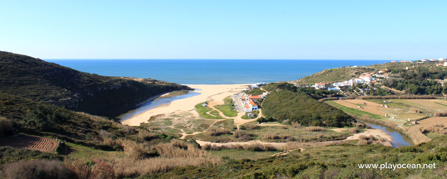Valley of Praia da Foz do Lizandro Beach