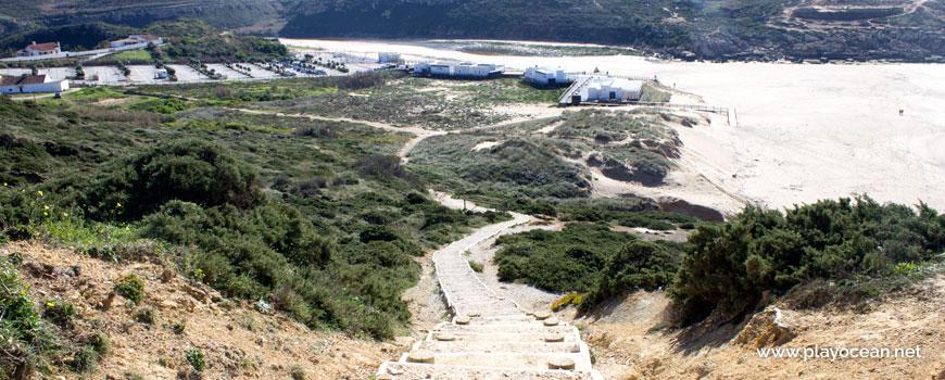 Escadaria na Praia da Foz do Lizandro