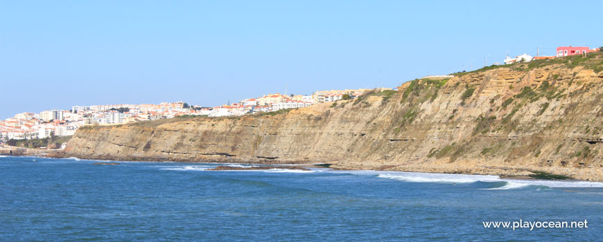Cliff and Ericeira town
