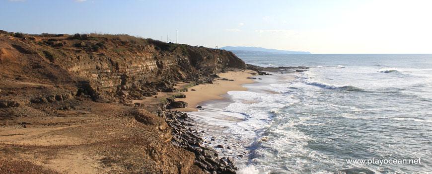 South at Praia da Orelheira Beach