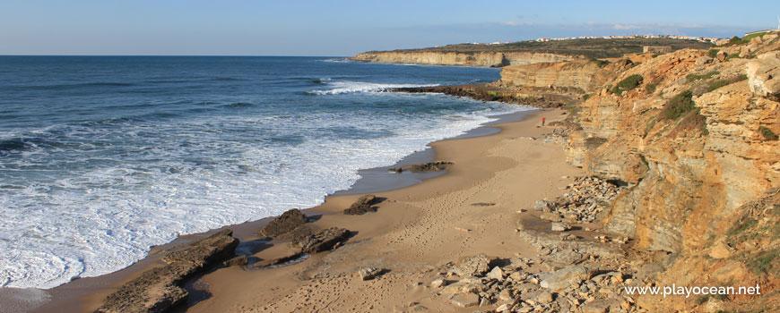 North at Praia da Orelheira Beach
