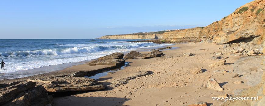 Rocks at Praia da Orelheira Beach