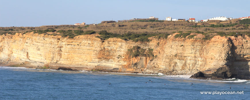 Panoramic of Praia do Penedo Mouro Beach