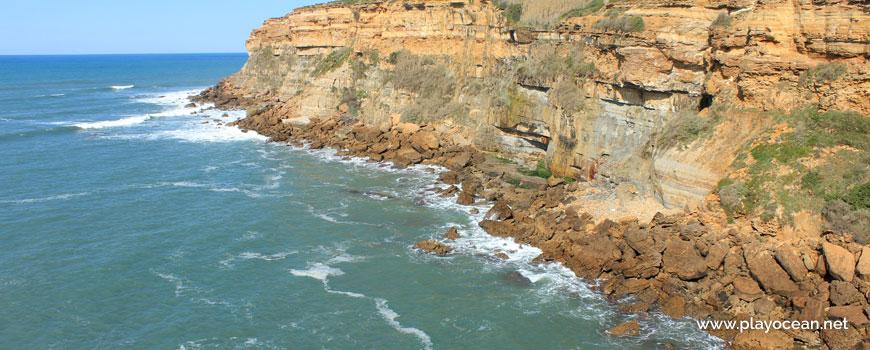 Falésia na Praia do Portinho Correia