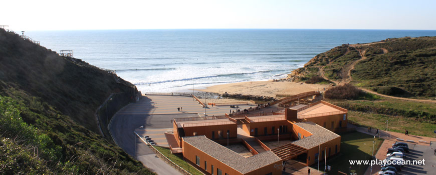 Panoramic of Praia de Ribeira dIlhas Beach