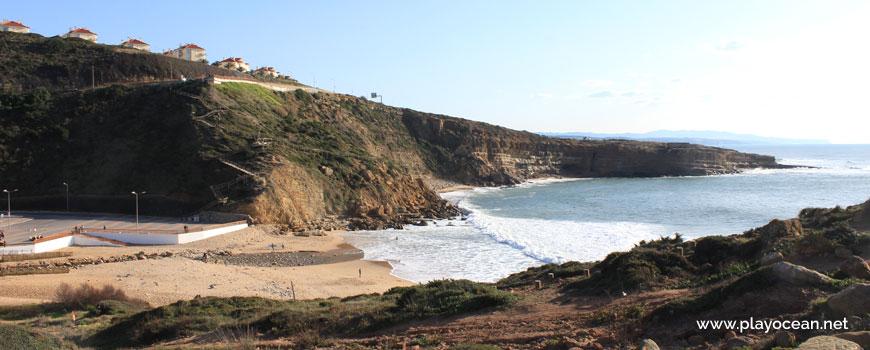South at Praia de Ribeira dIlhas Beach