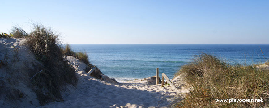 Entrance of Praia do Samouco Beach