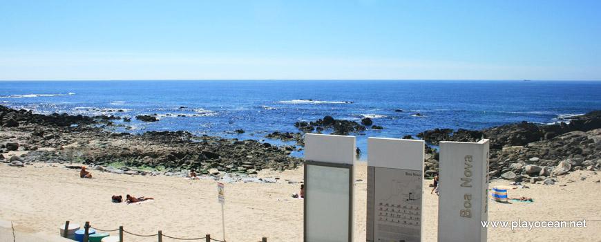 Entrance of Praia da Boa Nova Beach