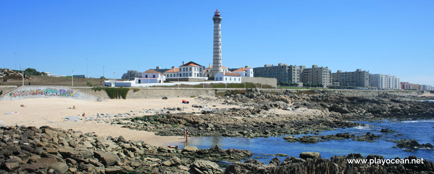 Leça Lighthouse, Praia da Boa Nova Beach