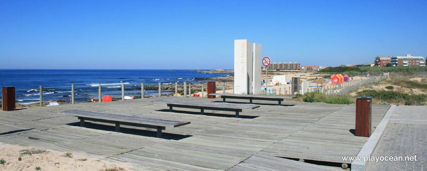 Benches at Praia do Cabo do Mundo Beach