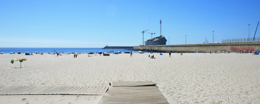 North part of Praia de Matosinhos Beach