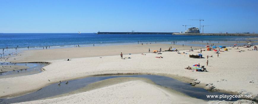 The Riguinha Stream at Praia de Matosinhos Beach