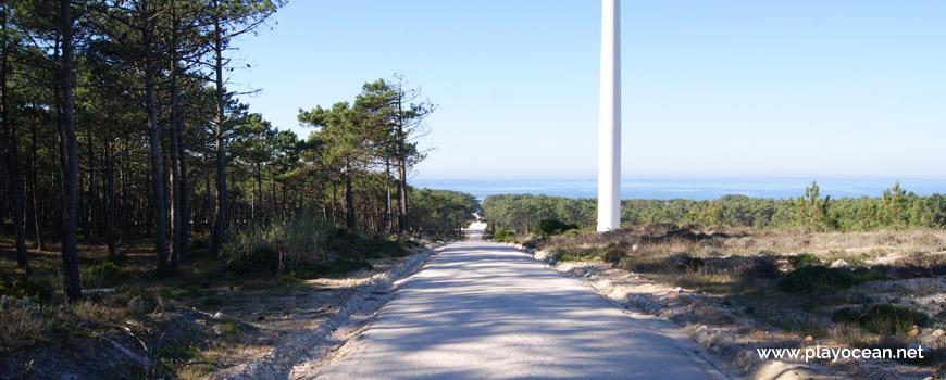 Road to Praia da Areeira Beach