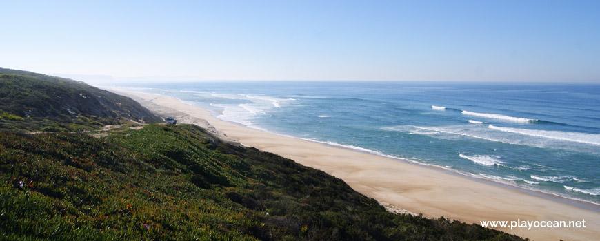 South of Praia da Areeira Beach