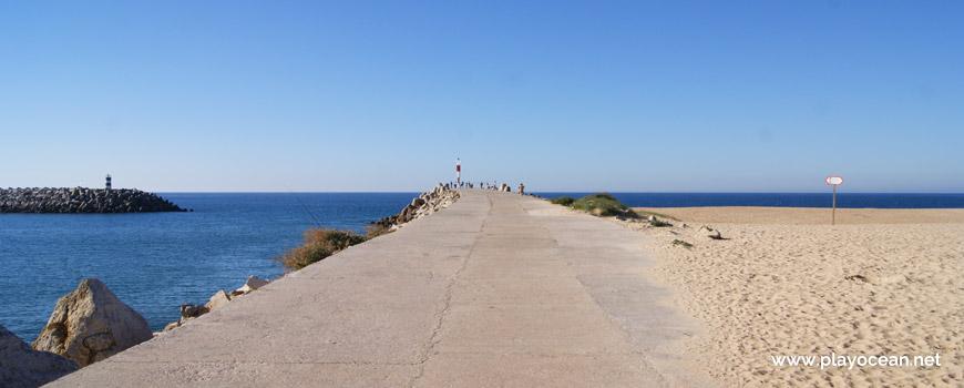Pier of Praia da Nazaré Beach