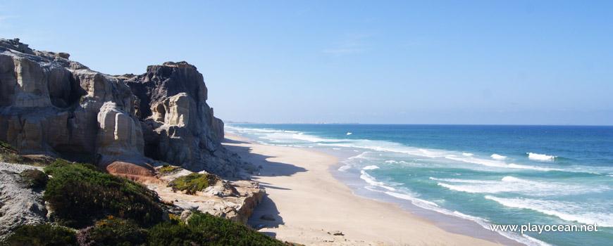 South at Praia da Estrela Beach