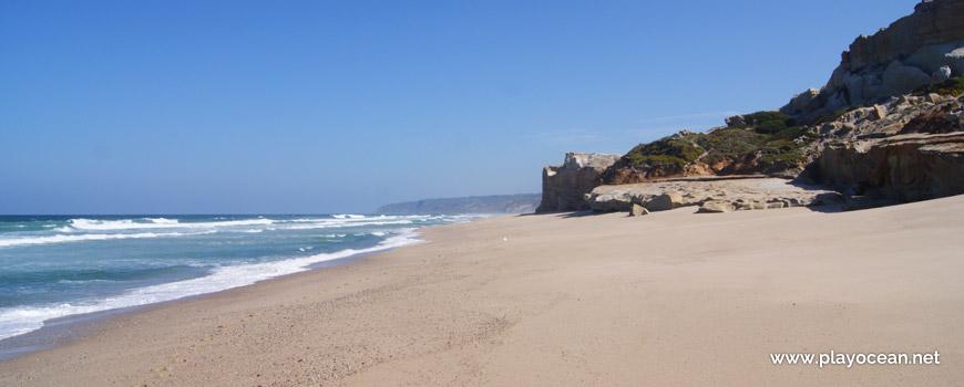 North at Praia da Estrela Beach