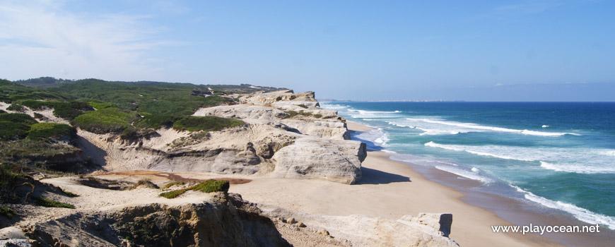 South at Praia do Rei do Cortiço Beach