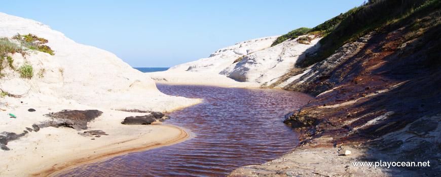 Stream at Praia do Rei do Cortiço Beach