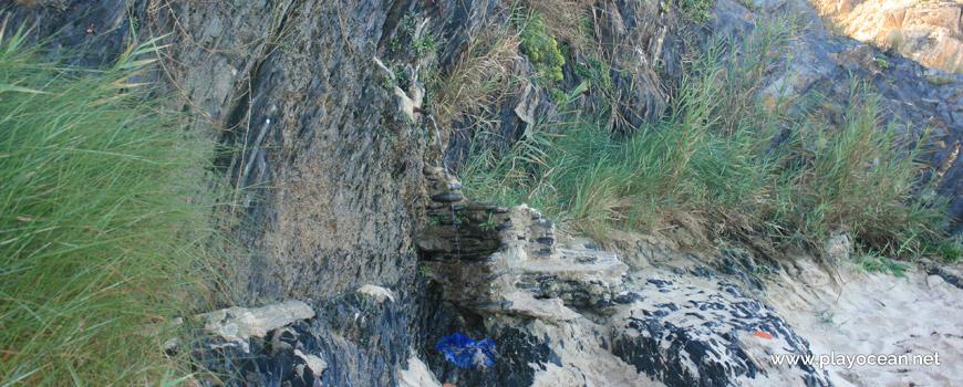 Nascente na falésia, Praia de Almograve