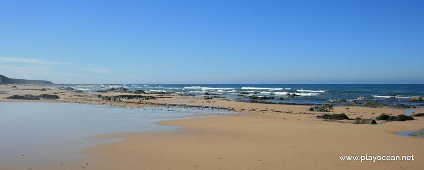 Maré baixa na Praia do Brejo Largo