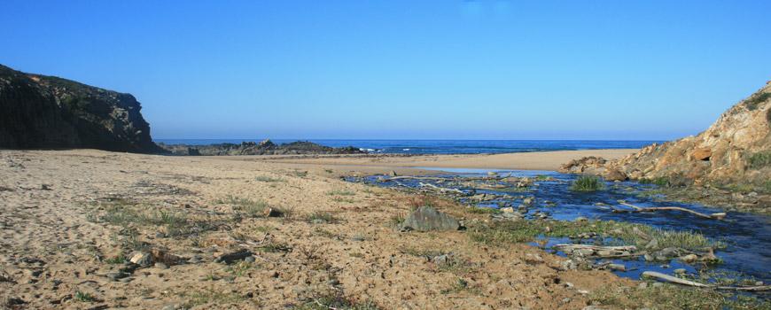 Areal na Praia da Foz dos Ouriços
