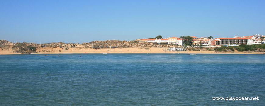Praia da Franquia na margem Norte
