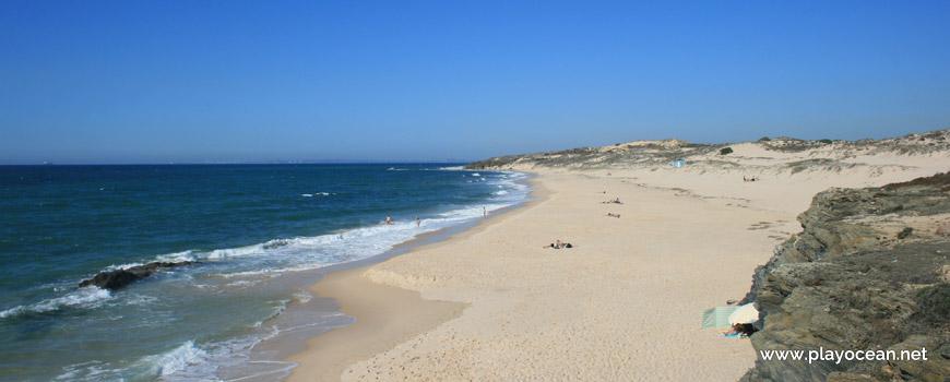 Norte na Praia do Malhão (Centro)