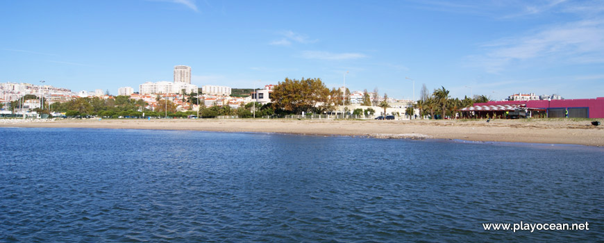 Panoramic of Praia de Algés Beach