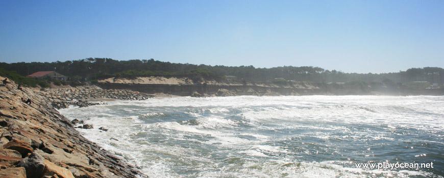 Maré cheia na Praia de Cortegaça (Sul)