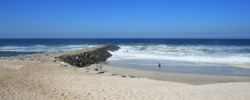 Areal e mar da Praia de Cortegaça