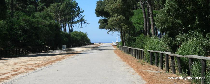 Road to Praia de São Pedro de Maceda Beach