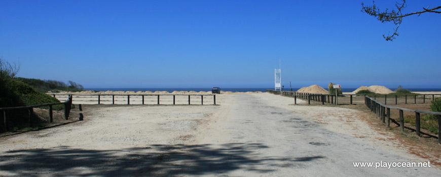 Parking of Praia de São Pedro de Maceda Beach